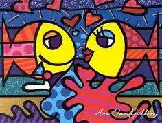 Love Fish by Romero Britto