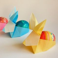 Tektonten Papercraft - Free Papercraft, Paper Models and Paper Toys: Origami Easter Egg Holders