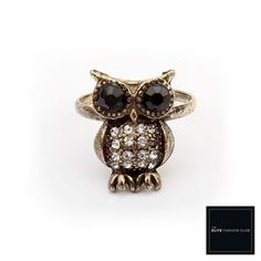 TEFC The Cutest Little Jeweled Owl Ring | Use this exclusive code: PINTEREST05 for 5% off all fashion products @ theelitefashionclub.storenvy.com