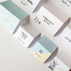 It will be hard for your guests to be disappointed with the seating arrangement when their placecards could look as cute as these! Retro Wedding Invitations, Watercolor Wedding Invitations, Invites, Wedding Gifts For Groom, Wedding Place Cards, Wedding Verses, Wedding Stuff, Wedding Timeline, Wedding Programs