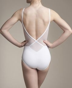 AinslieWear Allegra - Low Back Leotard with Mesh Panels #SadieJane and #PintoWin