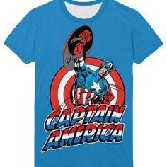 Captain America Comics Tee Shirt Oldschool | IdolStore