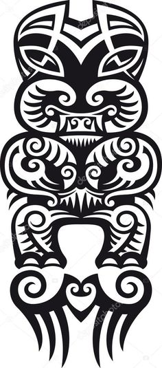 Taniwha the monster Maori styled tattoo design Raster Check my portfolio for a vector version Maori Designs, Tattoo Designs, Vector Art, Illustration, Images, Clip Art, Symbols, Creative, Maori Tattoos