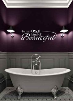 Love The Purple Wall Color For A Bathroom Part 34