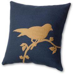 Bird Appliqu Pillow