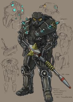 enclave tesla powerarmor by ~TugoDoomER on deviantART