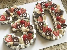 30th Birthday Cakes For Men, Number Birthday Cakes, 40th Cake, Number Cakes, Donut Party, Cupcakes, Cupcake Cakes, Alphabet Cake, Cake Lettering