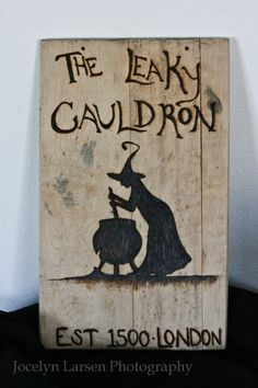 The Leaky Cauldron Harry Potter inspired wall by WandsbyLarsen, $55.00