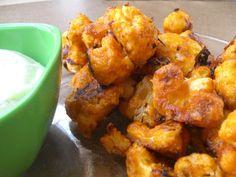 veggies on my plate: Buffalo- Style Cauliflower and Ranch!