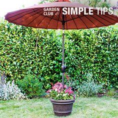 Made for Shade: DIY Umbrella Stand Planter   Garden Club
