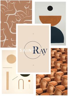 Mood board and color story for logo design for a clothing/lifestyle brand. Love the aesthetic of the deep navy and brown/copper vibe.