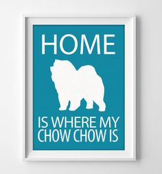 8x10 Chow Chow Wall Art Illustrated Dog Art Chow Chow by pigknit