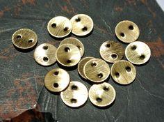 10Pcs Gold Plated Disc Shape Metal Beads MTB14 by RareGemsNJewels