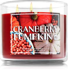 Cranberry Pumpkin 3-Wick Candle - Home Fragrance 1037181 - Bath & Body Works