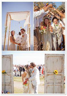 Boho Chic Beach Wedding by I Heart My Groom via Borrowed and Bleu