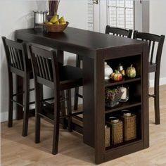 Jofran Furniture Maryland Merlot Counter Height Set is part of Small kitchen tables - Shop Jofran Furniture Maryland Merlot Counter Height Set with great price, The Classy Home Furniture has the best selection of Bar Complete Sets to choose from Dining Table With Storage, Small Kitchen Tables, Small Dinning Room Table, Small Dining Table Apartment, Apartment Kitchen, Dining Table Small Space, High Top Table Kitchen, Narrow Kitchen, High Dining Table Set
