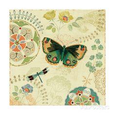Folk Floral II Art Print