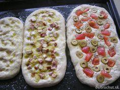 Fotorecept: Focaccia - talianska chlebová placka - My site Slovak Recipes, Italian Recipes, Pizza, Cooking Recipes, Healthy Recipes, Ciabatta, How To Make Bread, Potato Recipes, Food And Drink