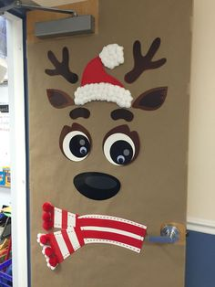 24 Popular Diy Christmas Door Decorations For Home And School. If you are looking for Diy Christmas Door Decorations For Home And School, You come to the right place. Below are the Diy Christmas Door. Diy Christmas Door Decorations, Christmas Door Decorating Contest, School Door Decorations, Christmas Decorations For Classroom, Cubicle Decorations, Christmas Bulletin Boards, Reindeer Decorations, Decoration Crafts, Kids Crafts