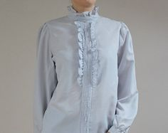 Image result for 80s ruffle blouse