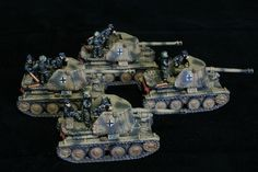 Marder Platoon for Flames of War. Painted by Panzer Schule for Worlds at War.