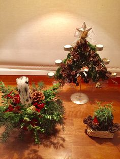 Decorações de Natal com folhas naturais