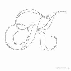 Alphabet Stencils K Print Alphabets in K Letters. Free Printable Alphabet Stencils Letter K for Walls and Crafts. Alphabet K Free Printable Alphabet Templates, Printable Letters, Free Printables, Printable Stencils, Alphabet Stencils, Alphabet Fonts, Fancy Letters, Creative Lettering, Parchment Craft