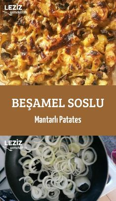 Beşamel Soslu Mantarlı Patates Ham, Macaroni And Cheese, Food And Drink, Cooking Recipes, Yummy Food, Ethnic Recipes, Rezepte, Mac And Cheese, Food Recipes