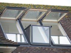 Velux Cabrio Balcony Roof Windows Attic Designs Cool Home Inspire 11590 Balcony Window, Roof Window, Balcony Garden, Attic Loft, Loft Room, Attic Ladder, Attic Office, Garage Attic, Attic House