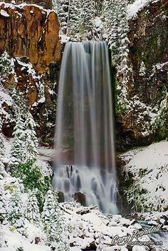 Tumalo Falls, Oregon; photo by Gray Randall