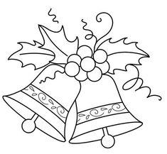 Campanas drawing ideas christmas embroidery, christmas templates, christmas c Christmas Embroidery Patterns, Christmas Applique, Embroidery Patterns Free, Embroidery Designs, Christmas Patterns, Crochet Christmas, Crochet Patterns, Christmas Colors, Christmas Art