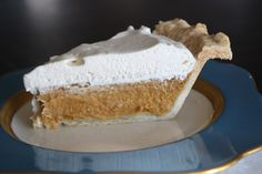 pumpkin-vanilla cream pie. I adjusted another more traditional recipe. I added vanilla to the pie filling and didn't fill it as full. I spread homemade vanilla flavored whip cream on the top before serving. Very delicious.