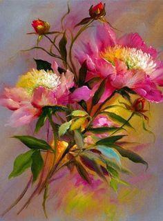 Daniel Keys Floral paintings