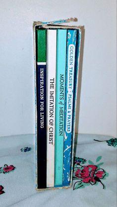 4 BOOK BOX SET Imitation of Christ Meditation Psalms Peter Pauper Press Slipcase
