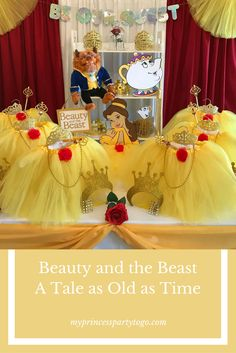 Disney's Classic Fairy Tale Beauty and the Beast comes alive with a little imagination and a Party in a Box from My princess Party to Go. Shop for this party at: www.myprincesspar... #beautyandthebeast