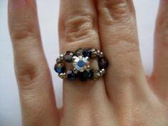 DIY Ring: Metallic Blue Monte Ring