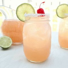 "Margaritas prepared with cherry soda & beer, perfect ""back porch"" summer cocktail!"