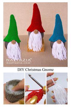 Easter Crochet, Crochet Crafts, Crochet Yarn, Crochet Toys, Crochet Projects, Crochet Christmas Gifts, Crochet Christmas Decorations, Christmas Crochet Patterns, Christmas Crafts