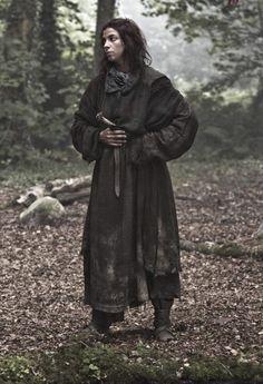 Screenshot S2E10. Natalie Tena as Osha the wildling.