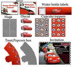 PERSONALIZED Disney Cars Birthday party Printable by BirthdayP, $20.00