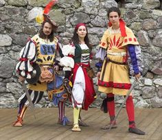 """Lancknechts       loosely based on Stibbert """"European Civil and Military Clothing"""". Wool, duvetyn, cloth, linen. First half of the 16th century. Author Vanilka."""