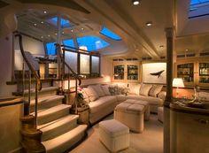 """Interior of the luxury sailing yacht """"Scheherazade"""""""