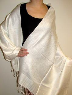 4cf17734cde Beautiful shawls on sale - buy Pashminas on sale prod  6224 White Inlaid  Paisley Shawl