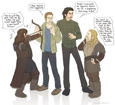 hvit-ravn: dean and aidan meets their characters :)
