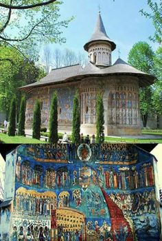 Suceava - Is one of the most striking examples of pure Moldavian style. The bright azure exists on the walls of the sanctuary since (wonderfulromania. Places To Travel, Places To See, Places Around The World, Around The Worlds, Wonderful Places, Beautiful Places, Bósnia E Herzegovina, Transylvania Romania, Visit Romania