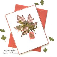 Fall Leaves Shaker Cards – Spellbinders – Velvetlemon