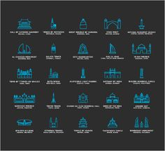Touristic icons - this free icon set consists of a set of vector icons that represent monuments across the globe, so they can be literally used anywhere.