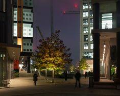 #exterior #publicrealm #square #colonnade #uplight #pendant  #spillage #warm  @Pancras Square London
