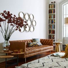 Image result for tan leather sofa