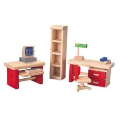Plan Toy Doll House Office - Neo Style (Toy)  http://www.amazon.com/dp/B0001VV82C/?tag=goandtalk-20  B0001VV82C
